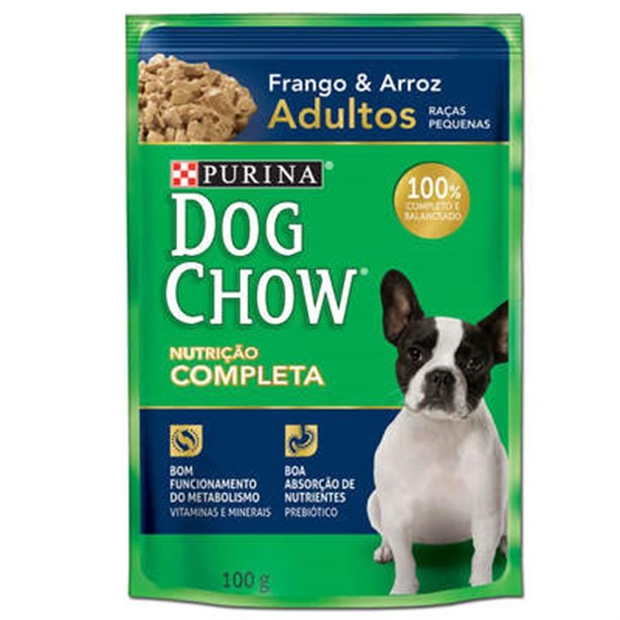 DOG CHOW PS ADULTO RP FRANGO ARROZ 100 GR