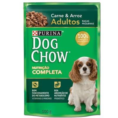 DOG CHOW PS ADULTO RP CARNE ARROZ 100 GR