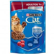 CAT CHOW ADULTOS 7+ CARNE MOLHO 85 GR