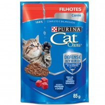CAT CHOW FILHOTES CARNE MOLHO 85 GR