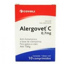 ALERGOVET 0,7 MG C 10 COMP