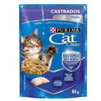 CAT CHOW CASTRADOS PEIXE AO MOLHO 85 G BR