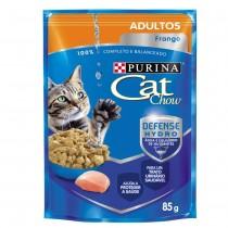 CAT CHOW ADULTOS FRANGO AO MOLHO 85 GR BR