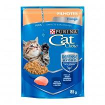 CAT CHOW FILHOTES FRANGO AO MOLHO 85 GR BR