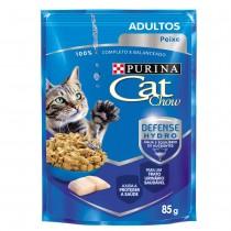 CAT CHOW ADULTOS PEIXE AO MOLHO 85 GR BR