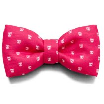 PINK SKULL BOW-TIE LARGE