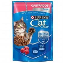 CAT CHOW CASTRADOS CARNE AO MOLHO 85 GR