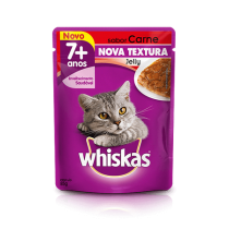 WHISKAS SACHE JELLY ADULT 7+ CARN 85 GR